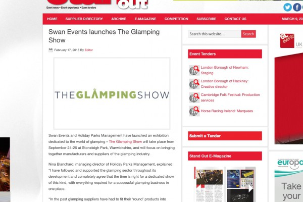 Stand Out Magazine The Glamping Show