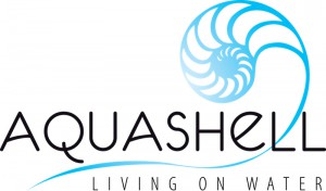 Aquashell Logo living on water