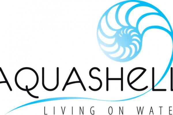 Aquashell Logo living on water