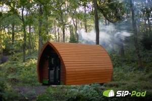 Glamping in a Pod under the rays of God in the Lake District